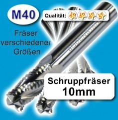 Fräsersatz lang 5-6-8mm für Edelstahl Messing Holz M40 wie HSS-E Z=4